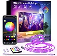 TV LED Backlight, ViLSOM 8.2ft Bluetooth APP Control LED Lights for 32-60inch TV/PC, Color Changing Music Sync with Remote...