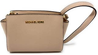 Selma Mini Saffiano Leather Crossbody Bag (Ballet)