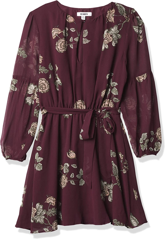 BB DAKOTA Women's La Vie En Rose Printed Dress