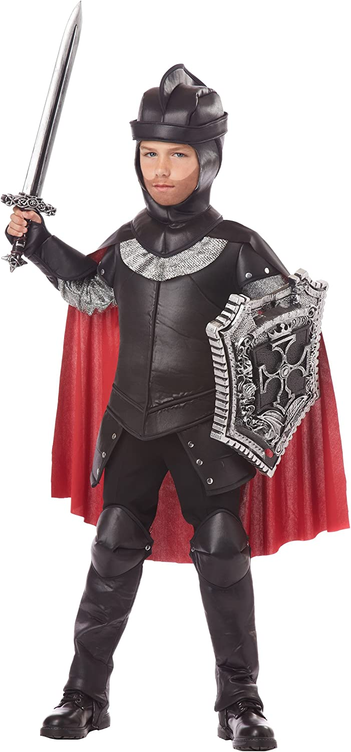 Boys The Black Large discharge sale Knight Costume Los Angeles Mall Small 6-8