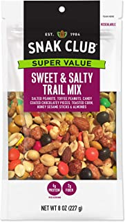 Snak Club Sweet Salty Trail Mix, 8-Ounces, 6-Pack