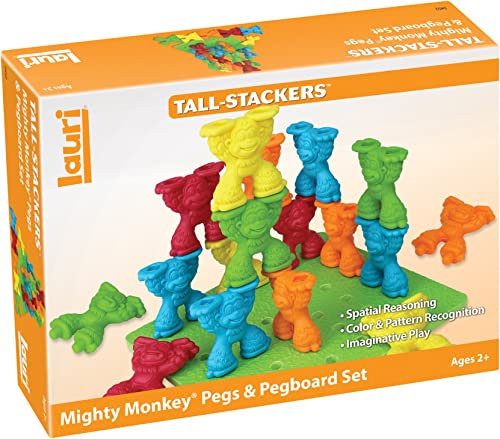 Lauri Tall-Stackers – Mighty Monkey Pegs & Pegboard Set