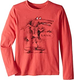 Later Gator Crusher T-Shirt Long Sleeve (Little Kids/Big Kids)