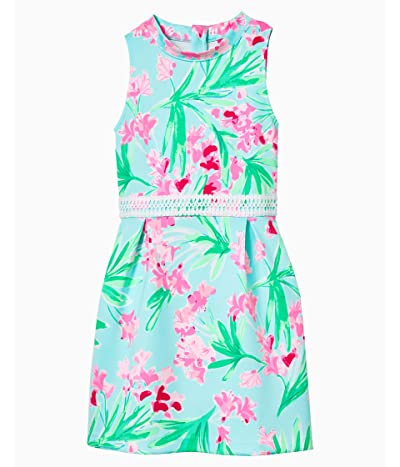 Lilly Pulitzer Kids Leesi Dress (Big Kids) (Aqua AL Fresco Isnt She Lovely) Girl