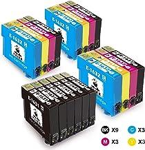 feier - 18 cartuchos de tinta Recambio de cartuchos de tinta Epson 16XL compatibles con impresoras Epson Workforce WF-2630WF WF-2750DWF WF-2510WF WF-2650DWF WF-2010W WF-2520NF WF-2530WF y WF-2540WF