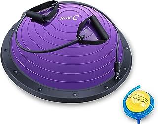 Nice C Balance Ball Balance Trainer, Half Ball with Resistant Band, Strength Exercise Fitness Yoga with Bonus Foot Pump