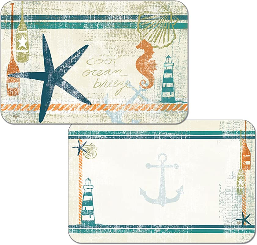 Counterart Set Of 4 Reversible Placemats Nautical Brights