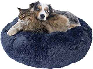 Downtown Pet Supply Premium Donut Dog Bed, Cozy Poof Style Giant Pet Bed Great for Cats & Dogs - Orthopedic, Washable, Dur...