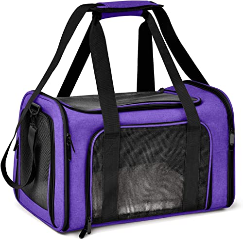 Henkelion Cat Carriers Dog Carrier Pet Carrier for Small Medium Cats Dogs Puppies of 15 Lbs, TSA Airline Approved Sma...