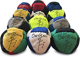 Dirtbag Footbag Classic Sand-Filled Hacky Sack 12-Pack - Assorted Colors
