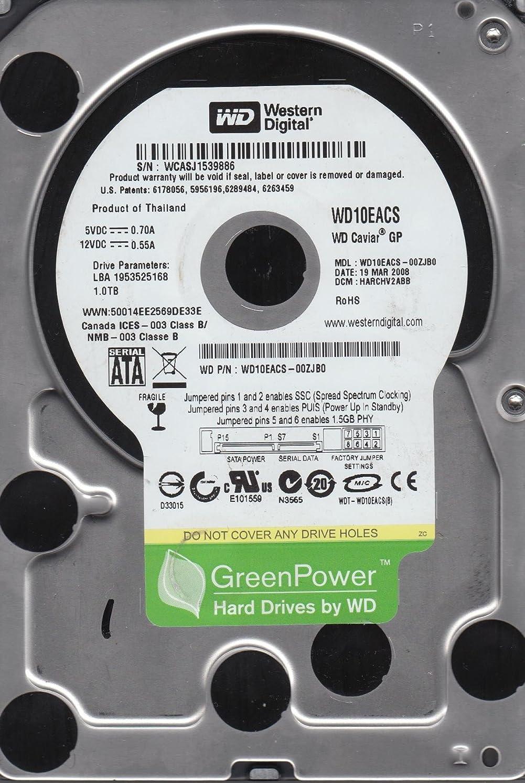 当社悲しむ恵みwd10eacs-00zjb0、DCM harchv2abb、Western Digital 1tb SATA 3.5ハードドライブ