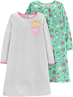 Little Girls' 2-Pack Food Printed Nightgowns, 2/3 Kids