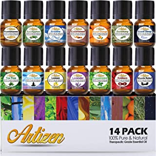 Artizen Aromatherapy Top 14 Essential Oil Set (100% PURE & NATURAL) Therapeutic Grade..