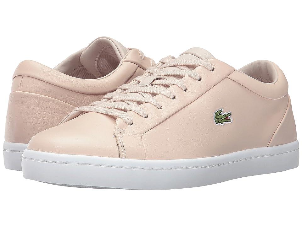 Lacoste Straightset Lace 317 3 (Light Pink) Women