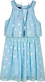 فستان Amy Byer Halter Popover للفتيات مع زخرفة زخرفية عند الخصر