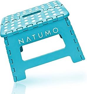 NATUMO Taburete Plegable Multiusos - taburete cocina, taburete niños, taburete plegable de viaje, Azul