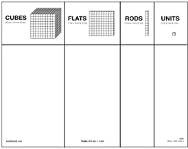 ETA hand2mind Paper Base Ten Place Value Mat, Package of 25