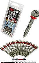Concrete Screw - RED Seal Moisture Barrier HIGH Performance HEX Head Concrete Screw Concrete Anchor Kit - 1/4