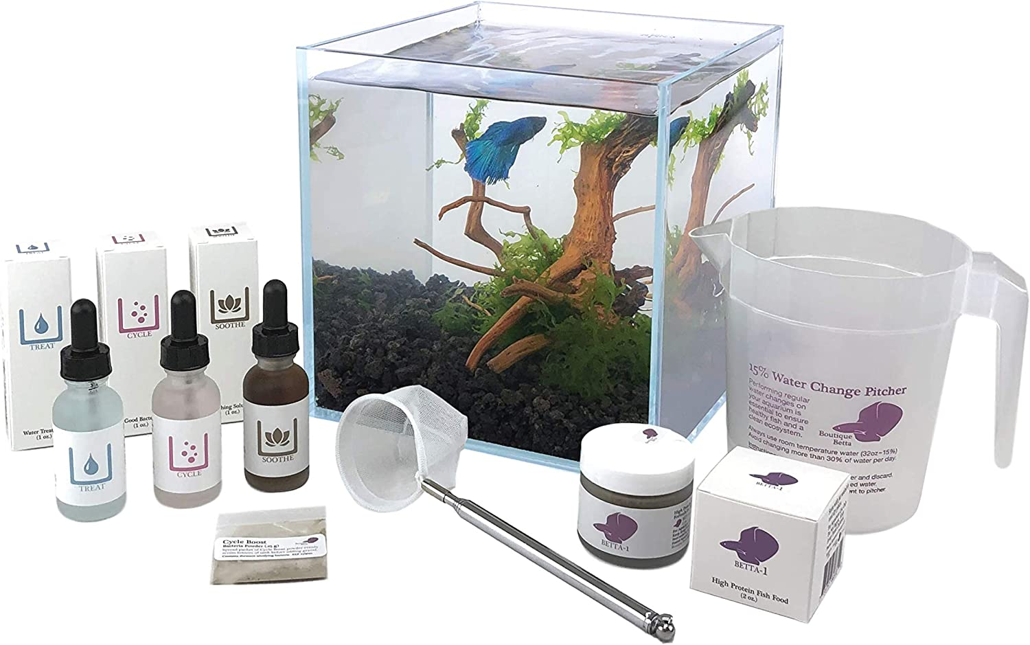 Aquarium Kit Some reservation for Betta Fish with G Rock Rimless Tank Lava Glass Superior