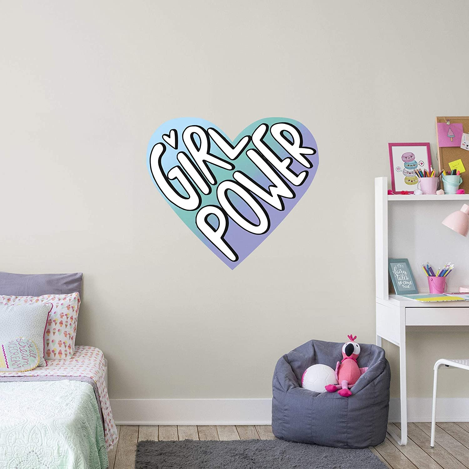 Girl Soldering Max 66% OFF Power Heart - Officially Wall Licensed Big Removable Moods