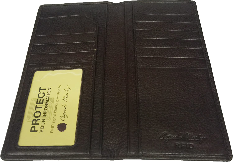 Osgoode Marley RFID Secretary Mens Coat Pocket Leather Wallet - Espresso
