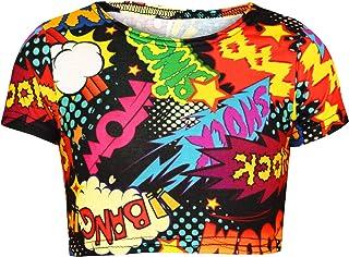 deef41eacfa70 A2Z 4 Kids Enfants Filles Wow Bang Boom Shock Imprimér Patineur Robes  Encapuchonné Crop Tops T