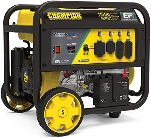 new arrival Champion discount Power Equipment 100485 11,500/9,200-Watt Portable Generator, Electronic Fuel online sale Injection Technology and CO Shield outlet online sale