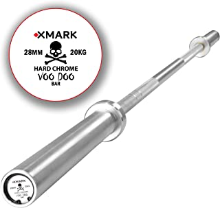 XMark Voodoo-Chrome Commercial 7' Olympic Bar, 1500 lb Weight Capacity, 28 MM Grip, Powerlifting Bar, Olympic Barbell, Weight Lifting Bar