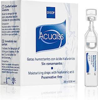 comprar comparacion Acuaiss Gotas Humectantes sin Conservantes con Ácido Hialurónico, Lágrima Artificial en Monodosis, 20 x 0,35 ml
