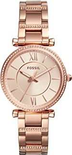 Fossil Women's Carlie Stainless Steel Casual Quartz Watch