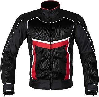 MotoArt ReflectorMX Textile Motorcycle Jacket Cordura 1000D (L, Black/Red/White)