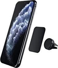 Satechi Air Vent Magnetic Aluminum Car Mount Holder - Compatible with iPhone 11 Plus Max/11 Plus/11, XS Max/XS/XR/X, Samsung Galaxy S10 Plus/S10, Nexus 5X/6P (Jet Black)