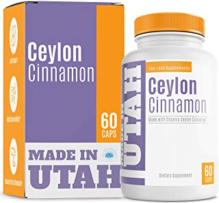 Organic Ceylon Cinnamon for Joint Health and Optimal Blood Sugar Levels - Rich in Antioxidants to Boost Overall Health & Well-Being - 60 Capsules