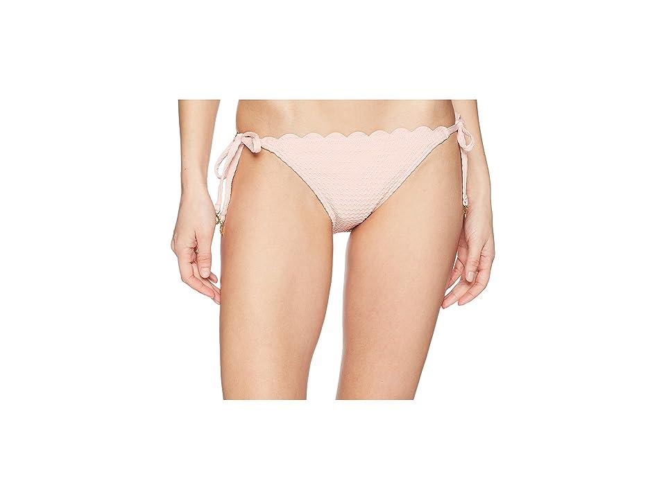 Kate Spade New York Marina Piccola Textured Scallop String Bottom (Aloha Pink) Women