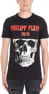 PHILIPP PLEIN Men's F19CMTK3554PJY002N0213 Black Cotton T-Shirt