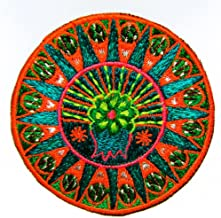 ImZauberwald Peyote Mandala Patch Huichol Artwork mescalin