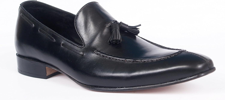 Wallstreet shoes '' SABE '' 100% Pure Leather Slip ons Tussle shoes 41-46(European) CDN 175.00 Black