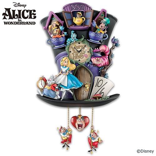 The Bradford Exchange - Disney's Alice In Wonderland Hat-Shaped 'Mad Hatter' Cuckoo