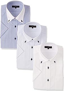 [タカキュー] 半袖 ワイシャツ 形態安定 スリムフィット ビジネス メンズシャツ 3点セット