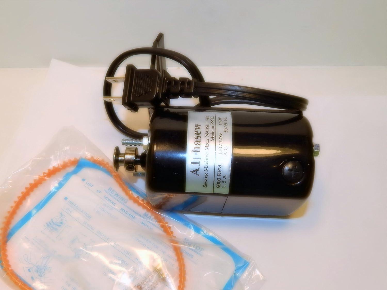 NEW ALPHASEW SEWING MACHINE MOTOR 9000 RPM Brand Cheap mart Sale Venue AMP 1.5 FIT L-BRACKET