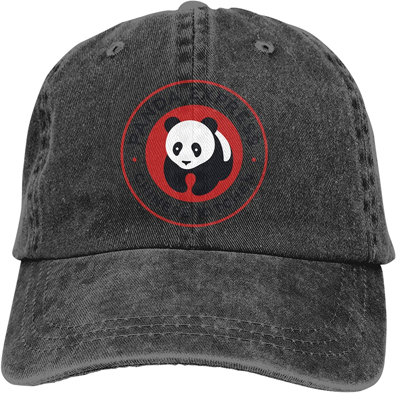 Azzwoiu Panda Express Cowboy Hat Cotton Adjustable Washable Retro Baseball Cap