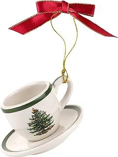 Spode Christmas Tree Ornament Teacup & Saucer
