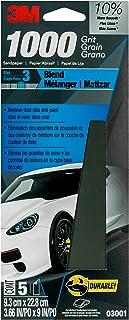 3M Lixa automática Wetordry avançada, 03001, grão 1000, 8,5 cm x 23 cm, a embalagem pode variar