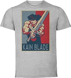 Instabuy T-Shirt Unisex - Grey Shirt - Propaganda - Pixel Art - Golden Axe The Duel - Kain Blade