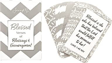 JennyM | Blessed Prayer Cards, Verses of Blessings & Encouragement, Bible Verses, Inspirational Scripture Cards with Keepsake Box, Boxed Inspirational Blessing Cards, Christian Gift!