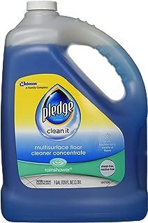 Pledge Multi-Surface Floor Cleaner Concentrated Liquid, Shines Hardwood, Rainshower, 1 Gallon