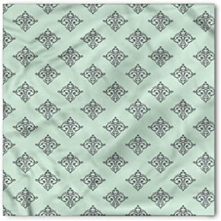 Green and Grey Bandana, Baroque and Antique, Unisex Head and Neck Tie