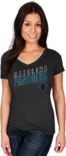 Profile Big & Tall NFL Carolina Panthers Adult Women NFL Pluspanthers S/Cotton V Neck Te,2X,Black