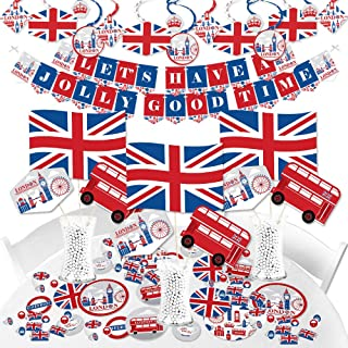Big Dot of Happiness Cheerio, London - British UK Party Supplies - Banner Decoration Kit - Fundle Bundle