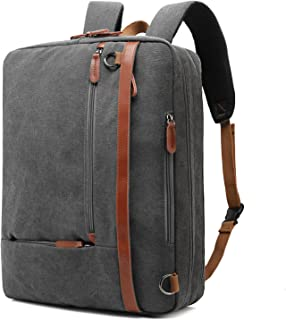 CoolBELL Convertible Backpack Shoulder bag Messenger Bag Laptop Case Business Briefcase Leisure Handbag Multi-functional Travel Rucksack Fits 17.3 Inch Laptop For Men/Women, Dark Grey